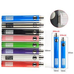 Batería Vape UGO-V II Batería Vape Cartucho 510 Rosca Batería 650mAh 900mAh ecig con Micro USB Cargador Vaporizador Pluma con multicolor