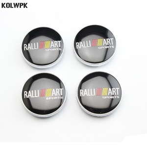 4pcs 60mm NEW Car Styling Accessories Emblem Badge Sticker Wheel Hub Caps Centre Cover for RALLIART MITSUBISHI LANCER PAJERO