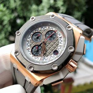 Royal Oak шестиконтактные многофункциональные мужские часы. Сильное чувство металла. Топ импортированных шестиконтактный многофункциональный кварцевый механизм. Улучшенная Минера