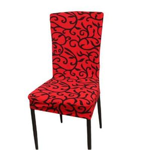 Printed Spandex Stretch Dining Chair Covers Restaurant Weddings Banquet Hotel Chair Covering Protector Slipcover Decor QW877066