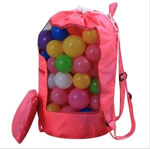 Été enfants plage sacs de jouet de plage outils de stockage sacs de rangement plié poche à poches coquille Recevez Sac de rangement Sand Away sacs enfants sac à dos