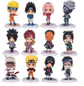 12 Unids / set Naruto Figura de Acción Q Edición Sasuke Figurine Anime 7 cm PVC Modelo de Colección de Muñecas Niños Bebé Juguetes para niños