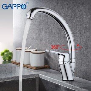 GAPPO صنبور المطبخ بالوعة المياه وحيد مقبض خلاط المياه النحاس صنبور المطبخ خلاط صنبور الحمام tapGA4136