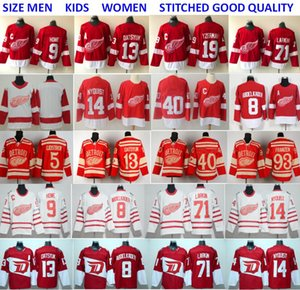Detroit Red Wings Jerseys Hockey 71 Dylan Larkin 13 Pavel Datsyuk Steve Yzerman Sergei Fedorov Tyler Bertuzzi Anthony Mantha Gordie Howe Red