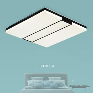 Soffitto del LED moderna Rettangolo Piazza Sottile Chandelier creativo cubo per soggiorno di studio da letto degli occhi Protezione Lamp Fixture