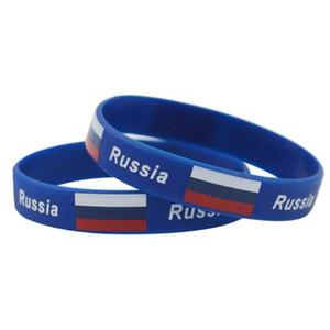 Rusia copa mundial de fútbol pulsera holograma bandera deporte pulsera poder ID silicona correa para la muñeca brazalete regalo recuerdo 2018