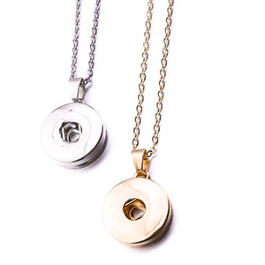 Simple Noosa Argent plaqué or 12mm 18mm Snap Button Collier Pour Femmes Snap Button Bijoux