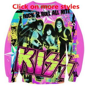 New Fashion Coppie Uomini Donne Unisex Kiss Band 3D Print Felpa con cappuccio Pullover con cappuccio Hoody Pullover R16