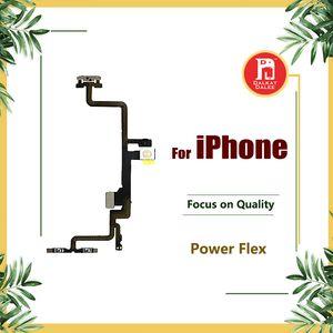 زر الطاقة On Off Flex لفون 5 5S 5C SE 6G 6S 6s بلس 7 بالإضافة إلى 8 X حجم مفتاح التبديل مع قفل معدني