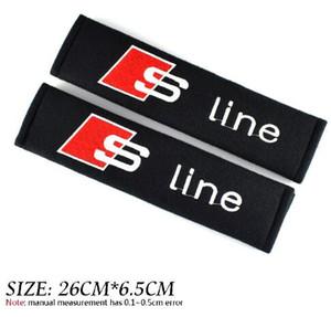Cas de style de voiture pour Audi S ligne SLine A4 B6 A6 C7 A3 8V B8 A6 C5 B7 B5 C6 Q5 A5 Accessoires Coton Voiture-Style