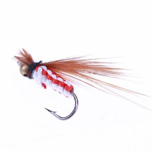 40Pcs Fly Fishing Lure Set artificiali Insect esca trota ganci Tackle Pesca con la pesca scatola Pesca a mosca esche