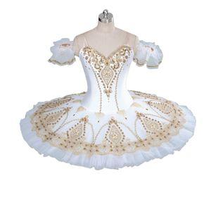 Adulto Profissional Tutu de Balé de Ouro Boneca de Fadas Panqueca Platter Desempenho Tutus Mulheres Clássico Trajes de Palco Ballet BT9056