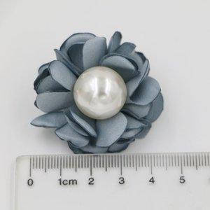 Haarschmuck Headwear 30ps Neueste Burned Satin Flower Handmade Flower Haar Blumen Mit Pearl Center Für Boutique