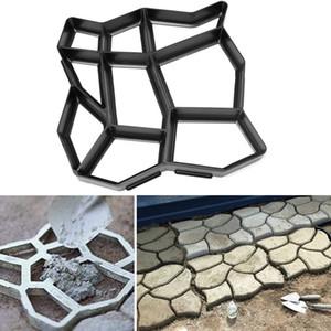 60x50 cm Jardín DIY Plástico Path Maker Mold Piedra Camino Pavimentación Cemento Molde de Ladrillo