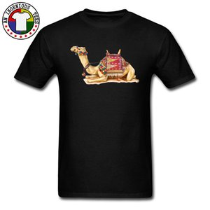 Cheaper Men's Great T Shirts Crouch Camel Picture Tshirt Round Collar 100% Cotton Fabric Fashion Loose Plus Size 3XL Tee Shirt