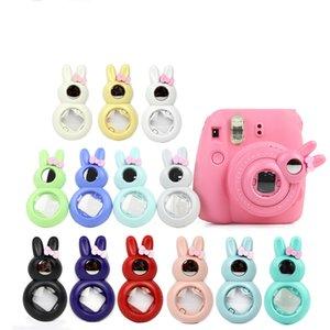 Мини-объектив в стиле кролика с зеркалом для автопортрета для Fujifilm Instax Mini 8, моментальная пленочная камера Mini 7S (синий / красный / розовый / черный / белый)