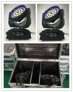 Halka Şekli Efekt İle Flightcase Robe Robin 600 6in1 RGBWAUV 36x18w LED Moving Head Yıkama Yakınlaştırma ışıkla 2 adet