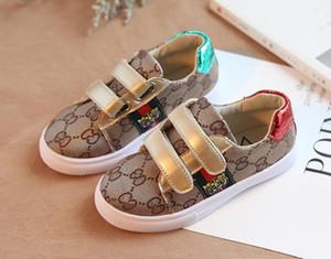 2019 outono inverno novos calçados infantis estudantes casuais brancos Tiger cabeça calçados esportivos confortáveis crianças correndo sapatos. Frete grátis