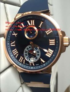 4 colores Super Clone Luxury UN Nuevo Marine Cronómetro Fabricación Roma digital 266-67-3 / 43 Oro rosa mecánico automático reloj para hombre