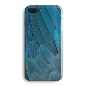 Frosty Style Blue Feather Pattern Mobile Phone Case For Apple Iphone 6 6S Plus TPU Shell