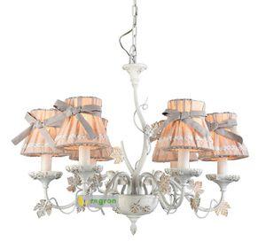 Regron Vintage Araña de iluminación Led Butterfly Fabric Arañas Lustre Estilo francés Art Deco Lámpara colgante Lámpara Sala de estar