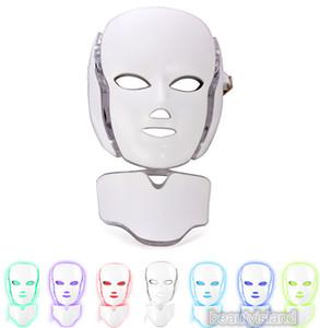 PDT Işık Terapisi LED Yüz Maskesi ile 7 Foton Renkler Ile Yüz ve Boyun Cilt Gençleştirme LED Yüz Maskesi Microcurrent Kişisel Ev Kullanımı ile LED Yüz Maskesi