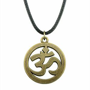 WYSIWYG 5 шт. кожа цепи ожерелья подвески колье воротник ожерелье женщины знак Ом 25 мм N6-A10434