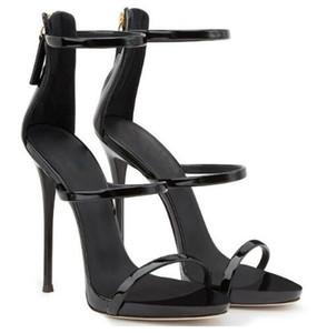 Ouro Metálico Couro Cross Strappy Sandálias Mulheres Cut-out Zipper Sapatos de Verão Sapatos de Plataforma Alta Saltos Senhora Sapatos de Escritório