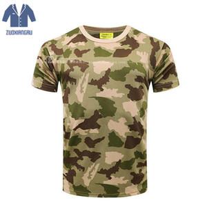 Camuflagem T-shirt T-shirt Quick Dry Respirável T-shirt Do Exército T-shirt Dos Homens de Compressão Camisa de Fitness Verão Bodybulding