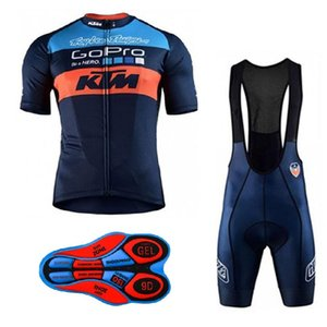 2018 KTM Erkekler yaz Bisiklet Jersey Nefes Bisiklet Giysileri Ropa Ciclismo Bisiklet Önlüğü Şort Set Spor giyim