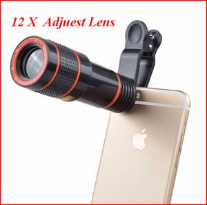 تلسكوب لنس 12x ضبط العدسة تكبير في كاميرا بصرية غير عالمية تليفوتوغرافي لين مع مقطع ل Iphone Samsung Huawei