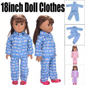 Pijamas lindos para 18 pulgadas Nuestra Generación Muñeca American Girl Juguetes para niñas para muñecas lol
