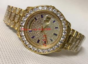 Montre de luxe à bas prix 118348 118388 36mm Jour-Date Président gros diamants Acier Or suisse 18K ETA 2836 Mouvement Automatique Montres Hommes