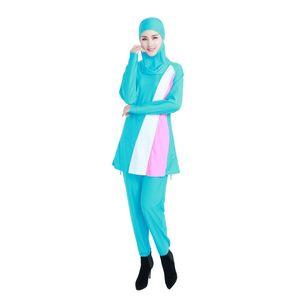 Envio de EUA Islã Swimsuit Swimwear Muçulmano Mulheres de Cintura Alta Ternos de Banho Swimwear Islâmico Beach Wear Maiôs