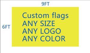 DHL frshpping La bandiera della squadra di calcio / club su misura rende la bandiera personalizzata pongee in poliestere pongee stampa digitale 6x9 FT