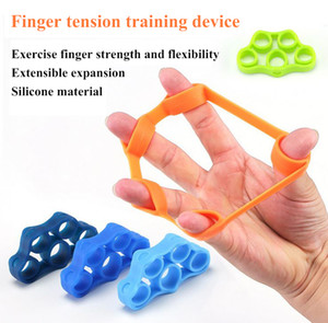 Силиконовый палец захват прочность тренер сопротивление группа рукоятка запястье йога носилки палец расширитель Упражнение 3 цвета спортивные игрушки