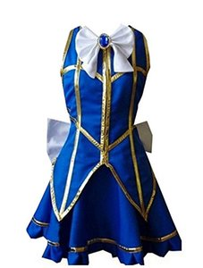 Costume Cosplay Fairy Tail Lucy Heartfilia Party Dress