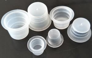 1000S + 1000M + 1000L = 3000Pcs Hochwertiger Kunststoff Tattoo Ink Cap Cups Transparent Pigment Tattoo Supplies Zubehör Halter Container