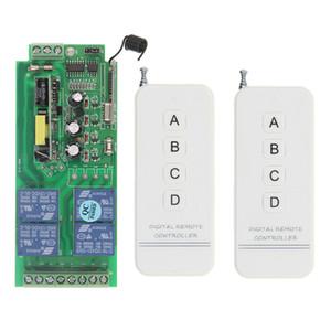 0-500 متر 85 فولت ~ 250 فولت 110 فولت 220 فولت 230 فولت 4ch الترددات اللاسلكية التحكم عن التتابع التبديل استقبال الأمن نظام باب المرآب الصمام الخفيفة