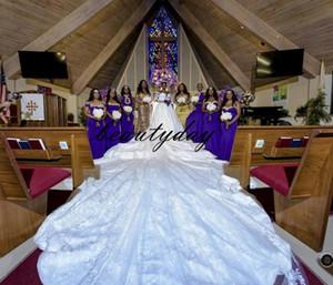 Robes de mariée d'église A-ligne africaine dentelle pour mariée nigérienne 2019 Vintage arabe robe de mariée à manches longues Appliqued dentelle Vestios De Novia