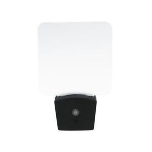 Mini LED RGB óptico noche de la lámpara luz incorporada Sensor de Estados Unidos enchufe de pared RGB 7 luces en blanco placa de acrílico de fábrica al por mayor de CE FCC UL