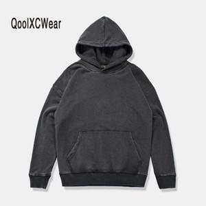 QoolXCWear hip hop sudaderas con capucha Hombres / Mujeres% 100 sudadera de algodón con capucha Hoody solid Sportswear jersey de gran tamaño