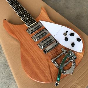 Em Estoque Guitarra Elétrica, Três mini captadores de ferro, Corpo de mogno Pescoço, Guitarra de pau-rosa Guitarra, Alta Qualidade