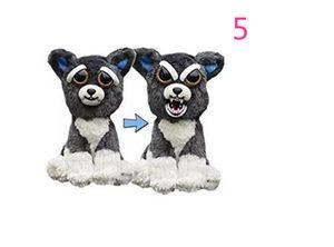 Feisty Pets Funny Toys 1 초 얼굴 동물 플러시 장난감 변경 만화 원숭이 유니콘 베이비 크리스마스 15 박제 장난감
