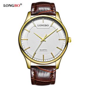LONGBO Nova Moda Casal Relógio Presentes Simples Luxo Homens Mulheres Relógios Casuais À Prova D 'Água de Quartzo Relógio De Pulso Masculino Reloj Homme 80301 S924W