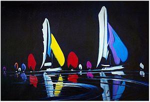 Grande e colorato paesaggio marino astratto dipinto a mano / stampa HD Wall Art PITTURA A OLIO su tela Multi formati personalizzati / Opzioni telaio Ab269