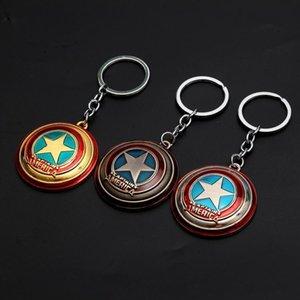 Avengers Kaptan Amerika Kalkanı Anahtarlık Superman Superhero Batman Thor Çekiç Anahtarlık Yüzük Anahtarlık Moda Aksesuarları Parti Hediye