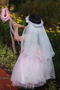 Çocuklar Kızlar Prenses Çiçek Taç Kafa Çiçekler Kız Uzun Peçe Çiçek Şapkalar Saç Aksesuarları Düğün Parti Favor Noel