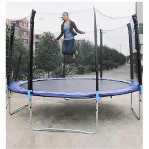 12 Pés de Alta Qualidade Trampolim Prático Com Seguro de Proteção de Salto Líquido Pacote Seguro Primavera Com Escada de Carga Peso 500 kg