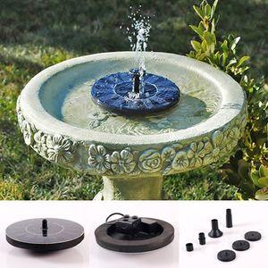Nueva bomba de agua flotante de agua Fuente de piscina de jardín Kit de bomba solar de riego
